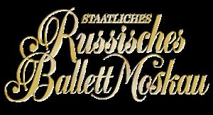 Schriftzug klein Staatliches Russisches Ballett Moskau