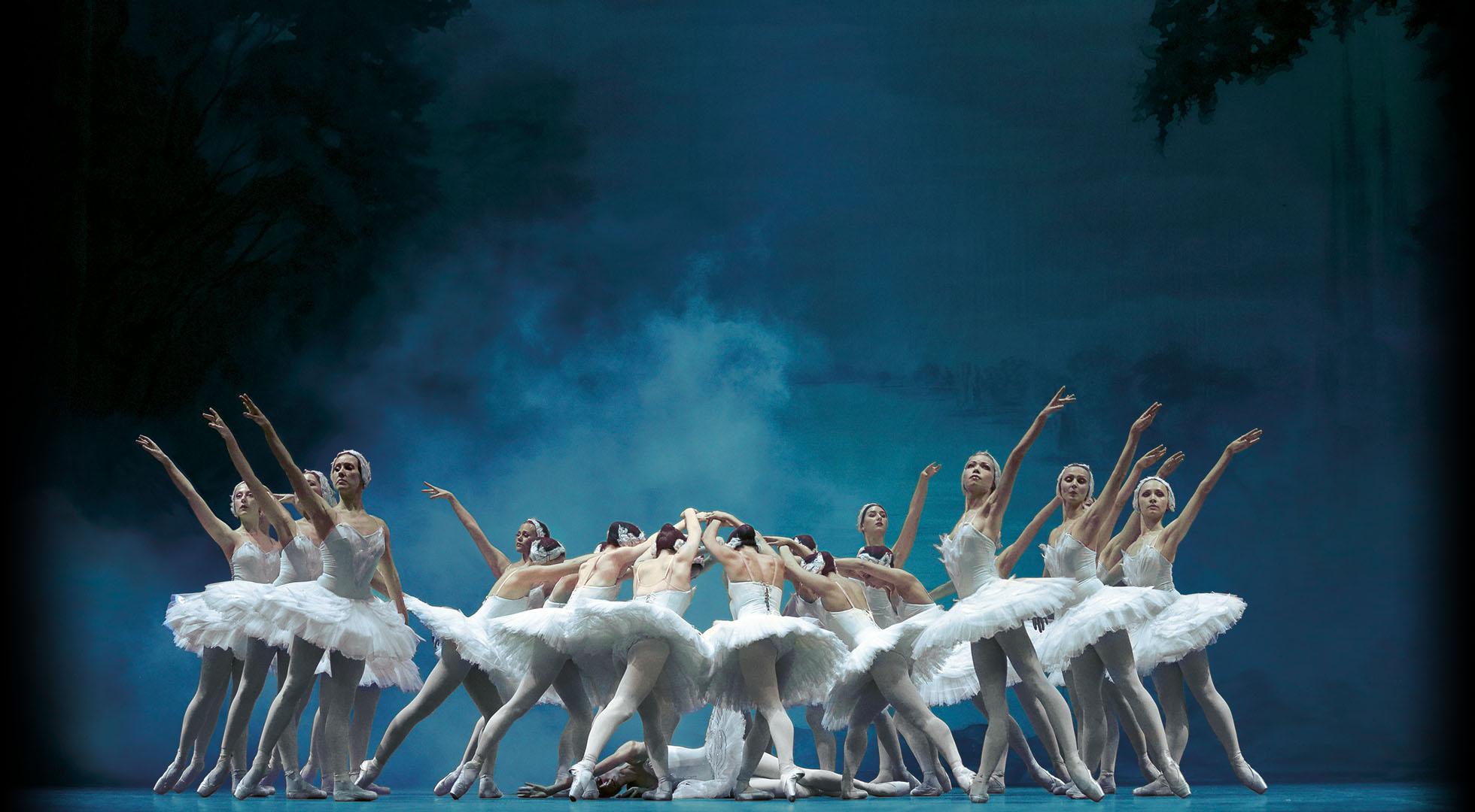 Titelsslider Schwanensee Ballett Tanzszene
