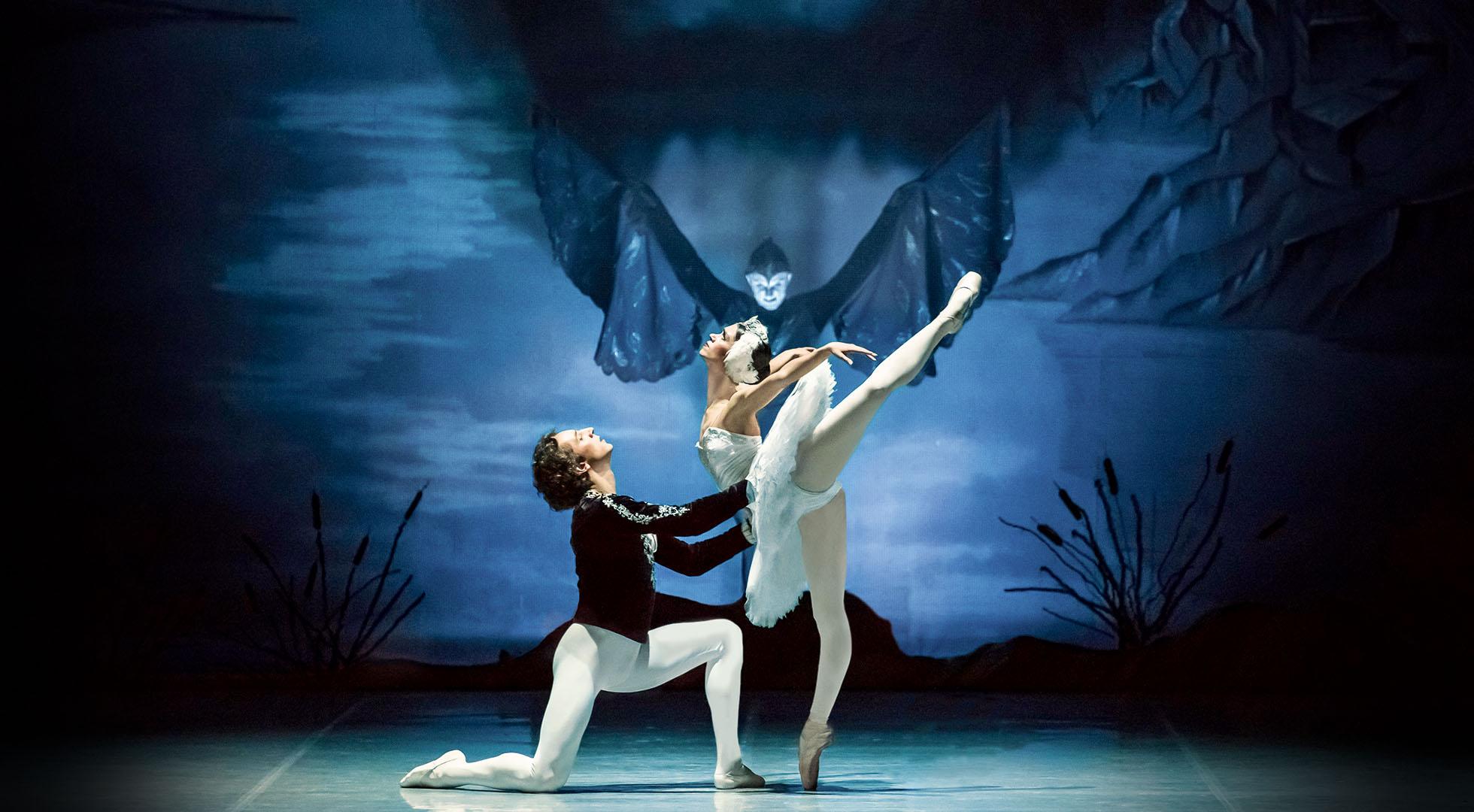 Ballett Schwanensee in Aufführung des Staatlichen Russischen Ballett Moskau