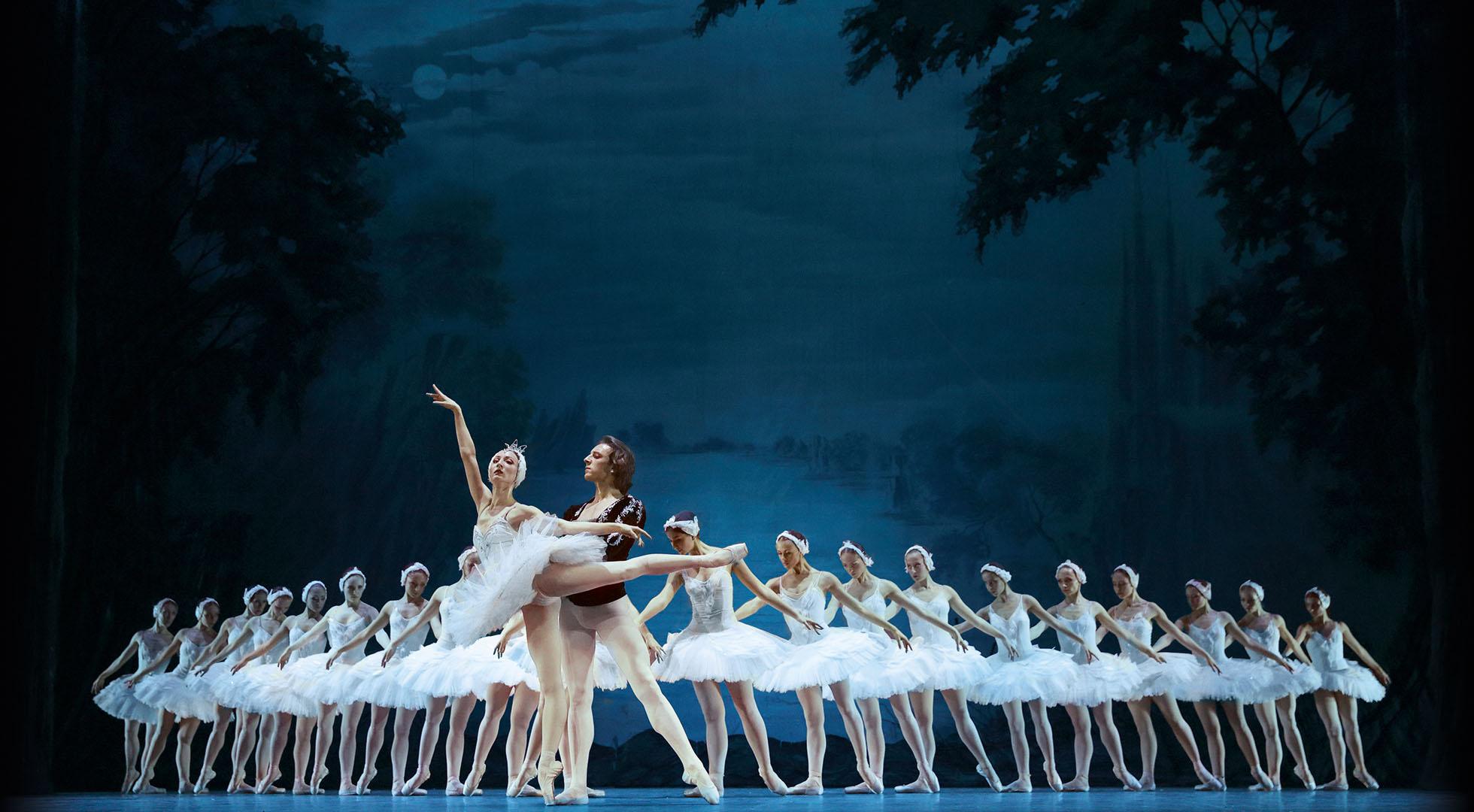 Gruppen-Szene in Schwanensee Ballett