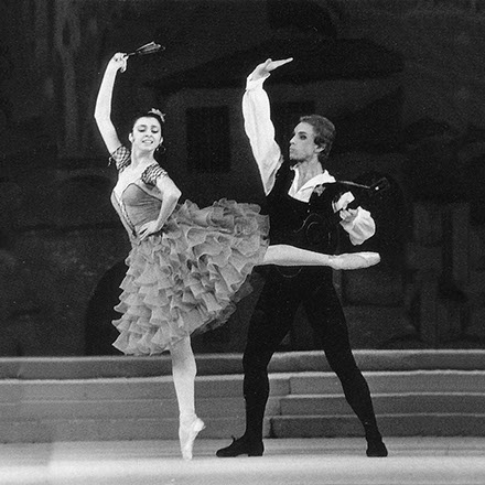 Nina Ananiashvili und Gordejew im Ballett Don Quixote