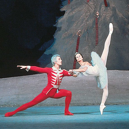 Wjatscheslaw Gordejew und Nadeshda Pavlova im Ballett Der Nussknacker