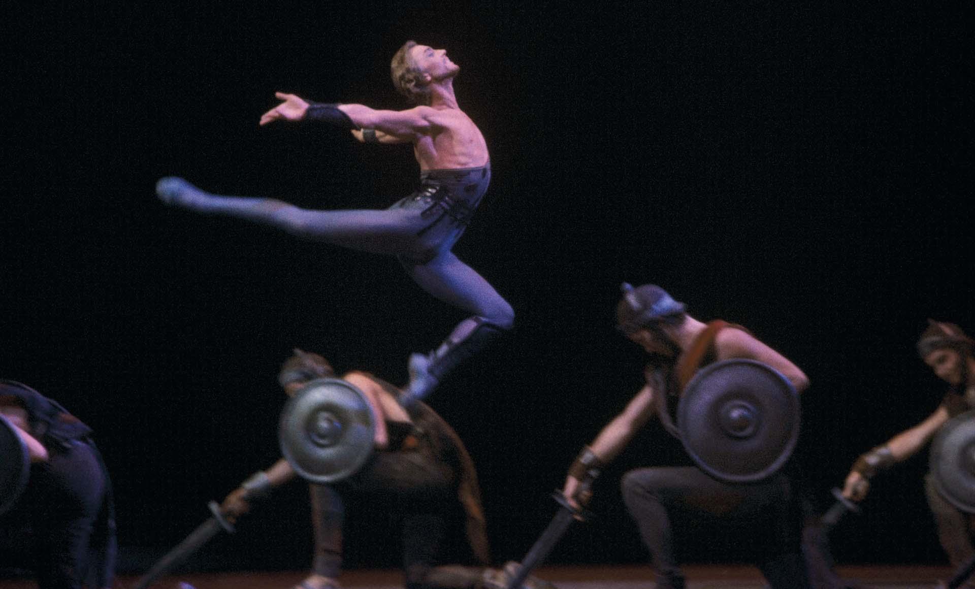 Wjatscheslaw Gordejew als Spartakus im Ballett Moskau