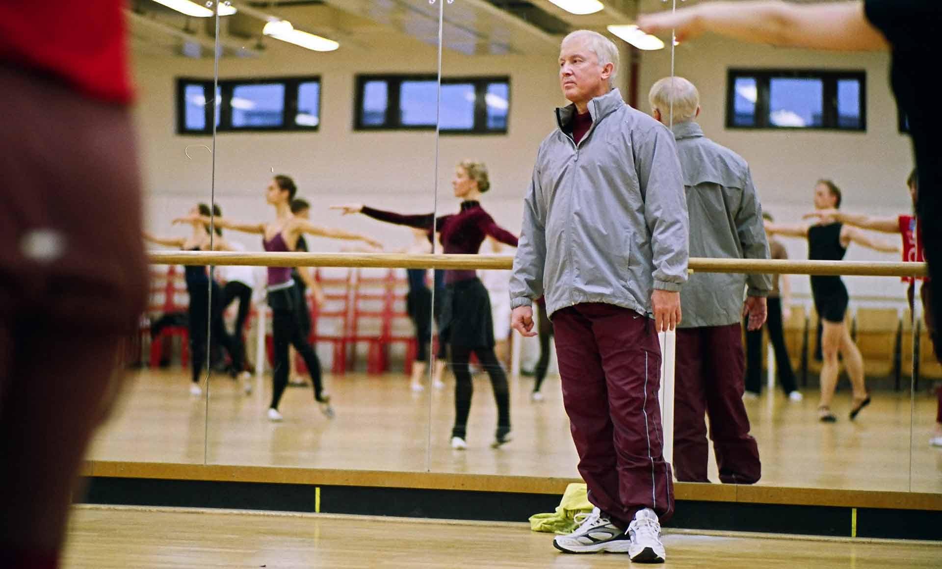 Wjatscheslaw Gordejew während des Trainings am Staatlichen Russischen Ballet Moskau