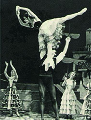 """Olga Kokhanchuk als """"Raydi"""" in einer Ballett-Aufführung von Yag-Mort 1962"""