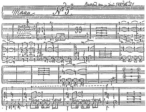 """Beispiel des Stepanov-Tanzschrift-Systems aus """"Alphabet des mouvements du corps humain"""""""